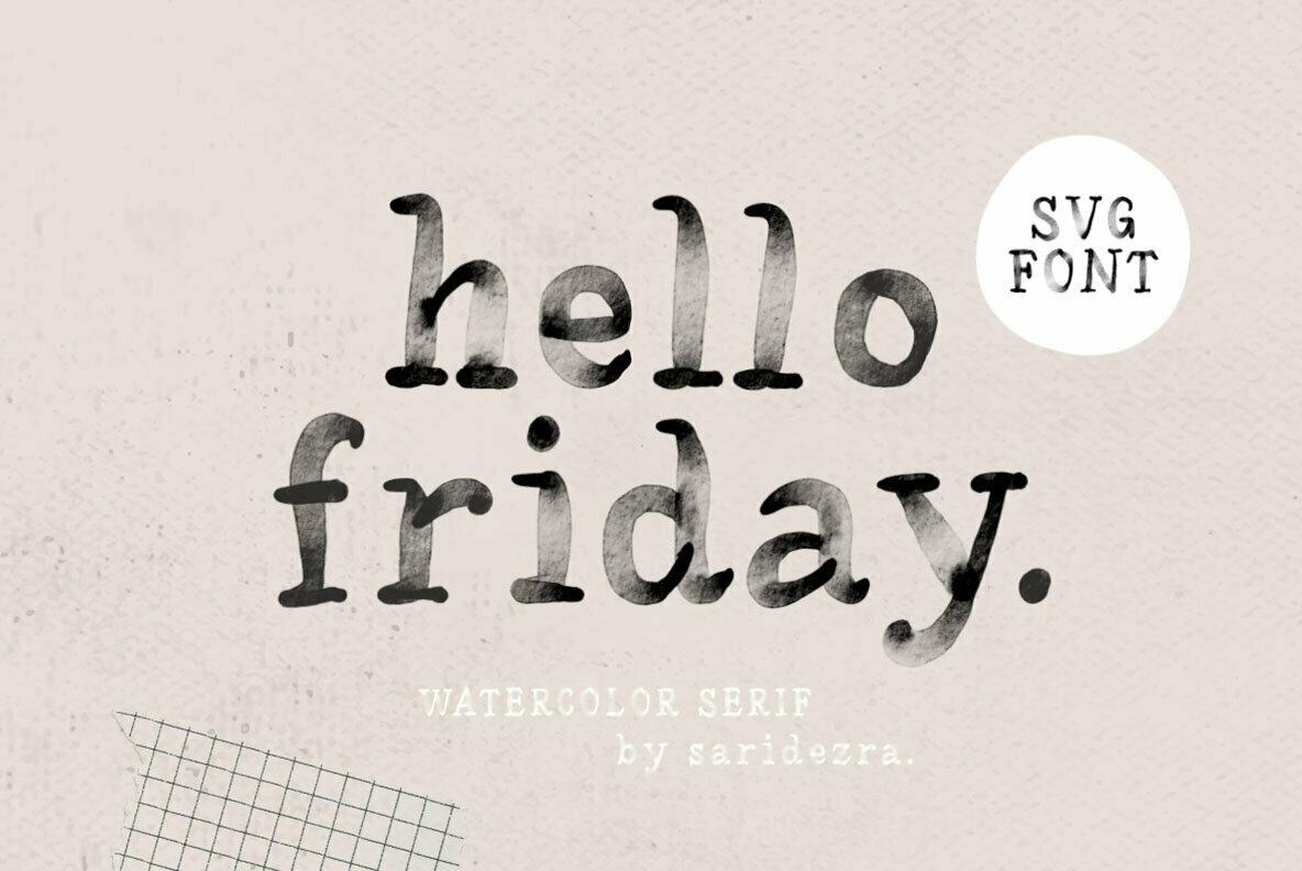Hello Friday SVG