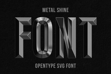 Metal Shine SVG Font