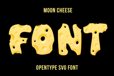 Moon Cheese SVG Font