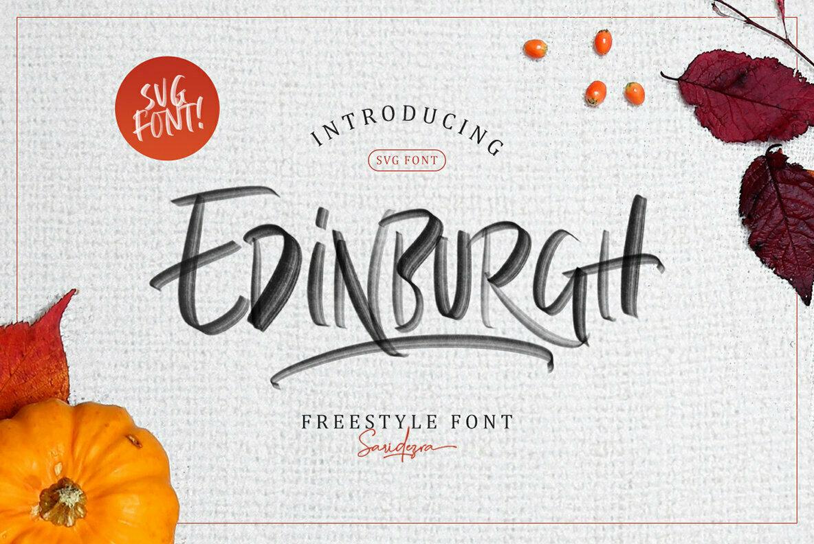 Edinburgh SVG Font