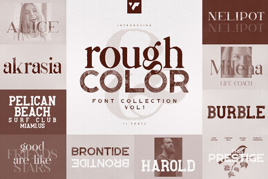 Rough and Color Font Collection Vol 1
