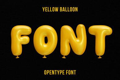 Yellow Balloon SVG Font