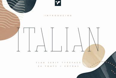 Italian Slab Serif