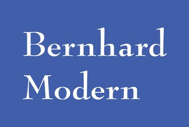 Bernhard Modern