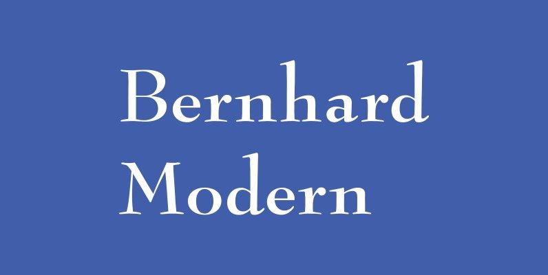 Bernhard Modern