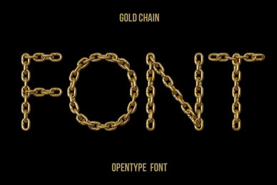 Gold Chain SVG Font