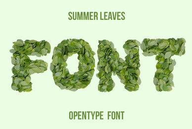 Summer Leaves SVG Font