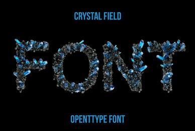 Crystal Field SVG Font