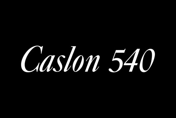 Caslon No 540