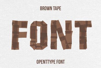 Brown Tape SVG Font