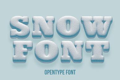 Snowball SVG Font