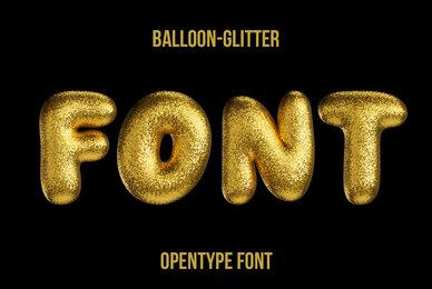 Balloon Glitter SVG Font