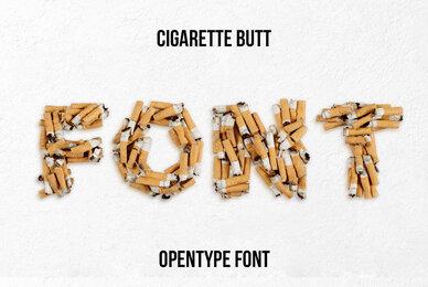Cigarette Butt SVG Font