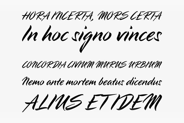 LP Pinselschrift