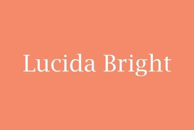 Lucida Bright