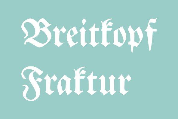 Breitkopf Fraktur