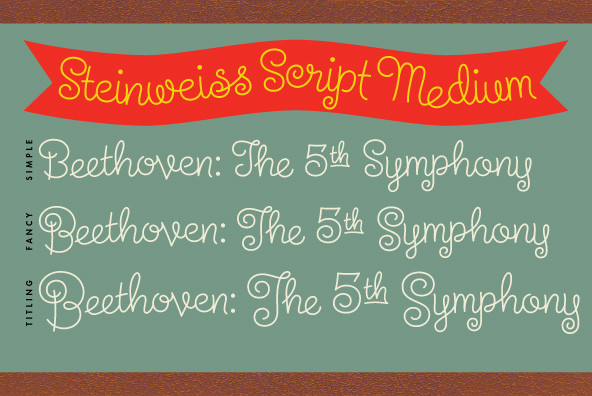 The Steinweiss Script Family