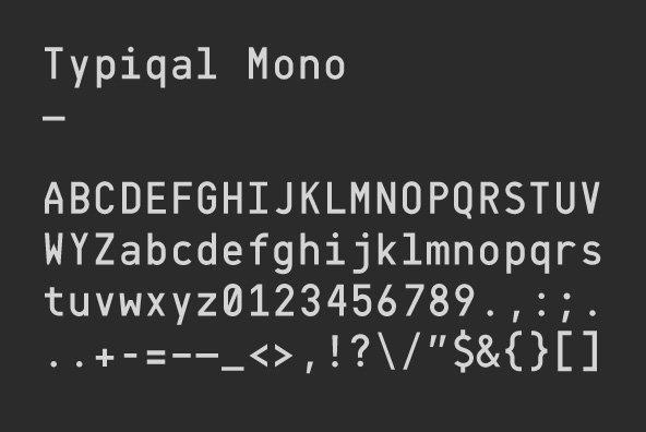 Typiqal Mono