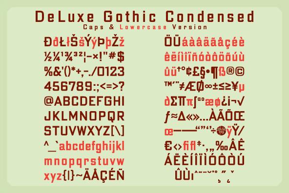 DeLuxe Gothic