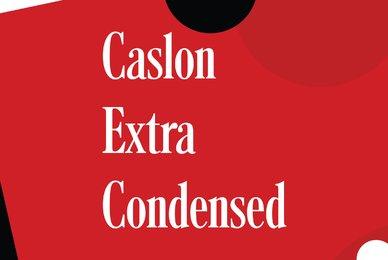 Caslon Extra Condensed