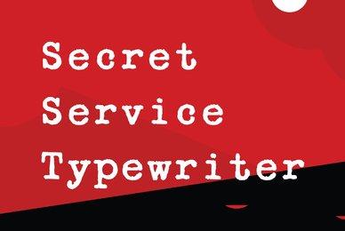 Secret Service Typewriter