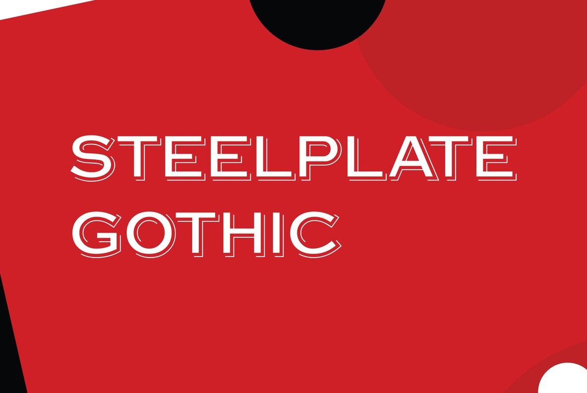 Steelplate Gothic