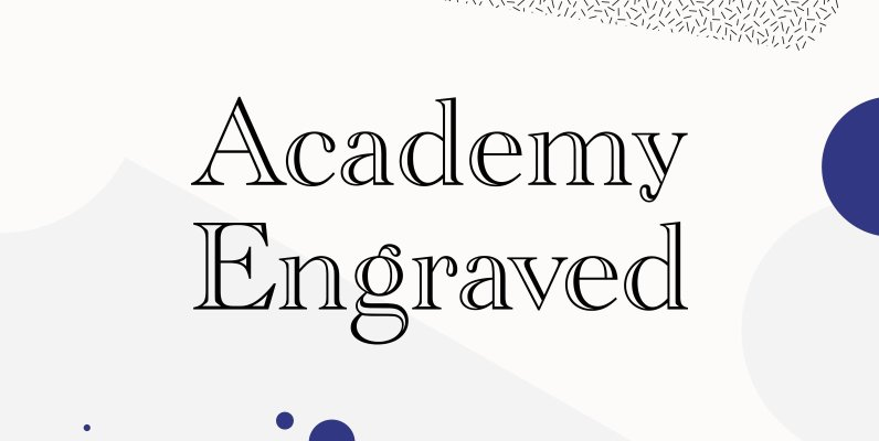 Academy Engraved