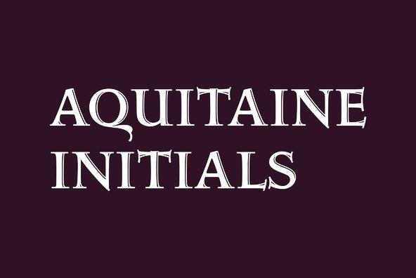 Aquitaine Initials