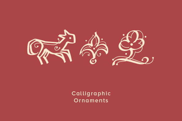 Design Font Calligraphic Ornaments