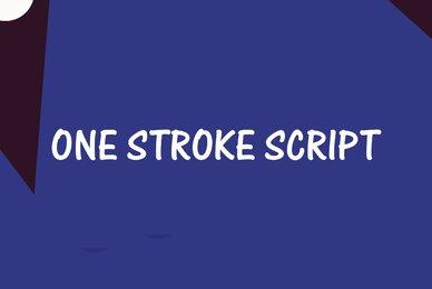 One Stroke Script