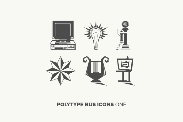 Polytype Business Icon One