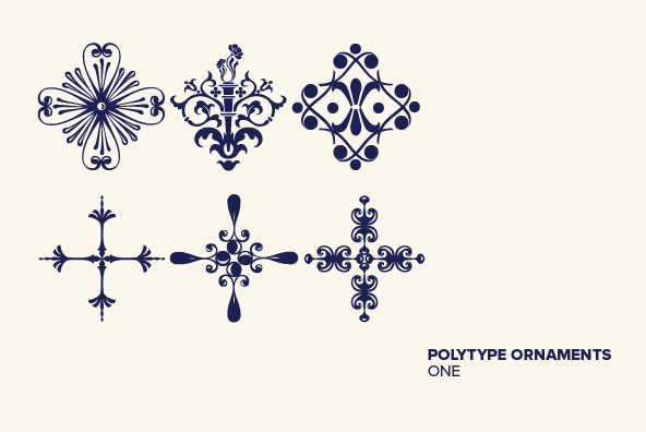 Polytype Ornaments One