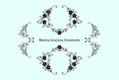 Menina Graciosa Ornaments