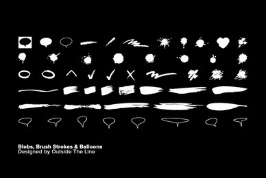 Blobs  Brush Strokes   Balloons