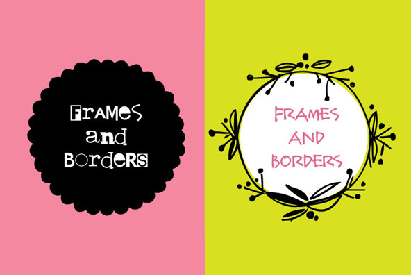 Frames Borders - Desktop Font - YouWorkForThem