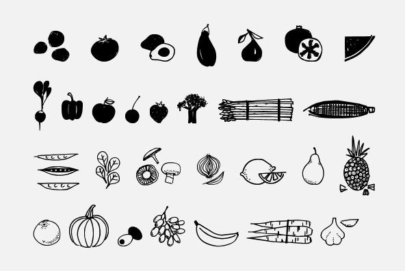 Fruit   Veggie Doodles