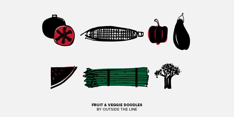 Fruit & Veggie Doodles
