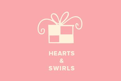 Hearts  Swirls