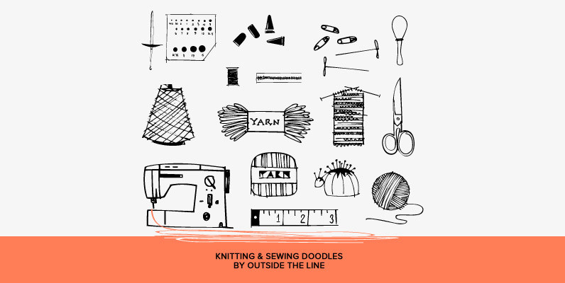 Knitting & Sewing Doodles