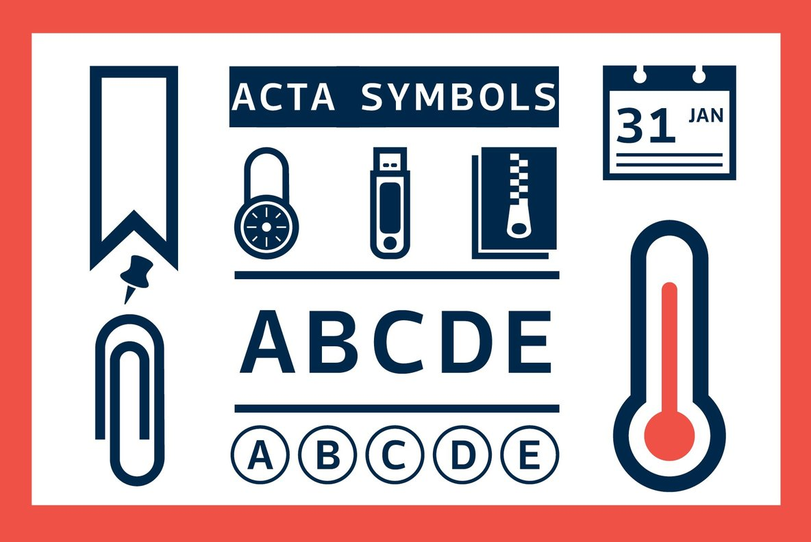 Acta Symbols Desktop Font Webfont Youworkforthem