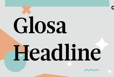 Glosa Headline