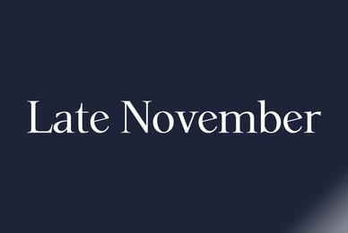 P22 Late November
