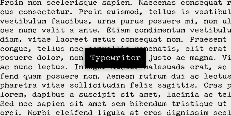 P22 Typewriter