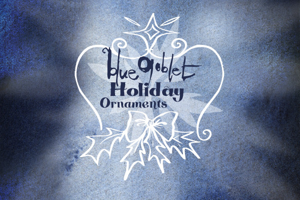 Blue Goblet Christmas Ornaments