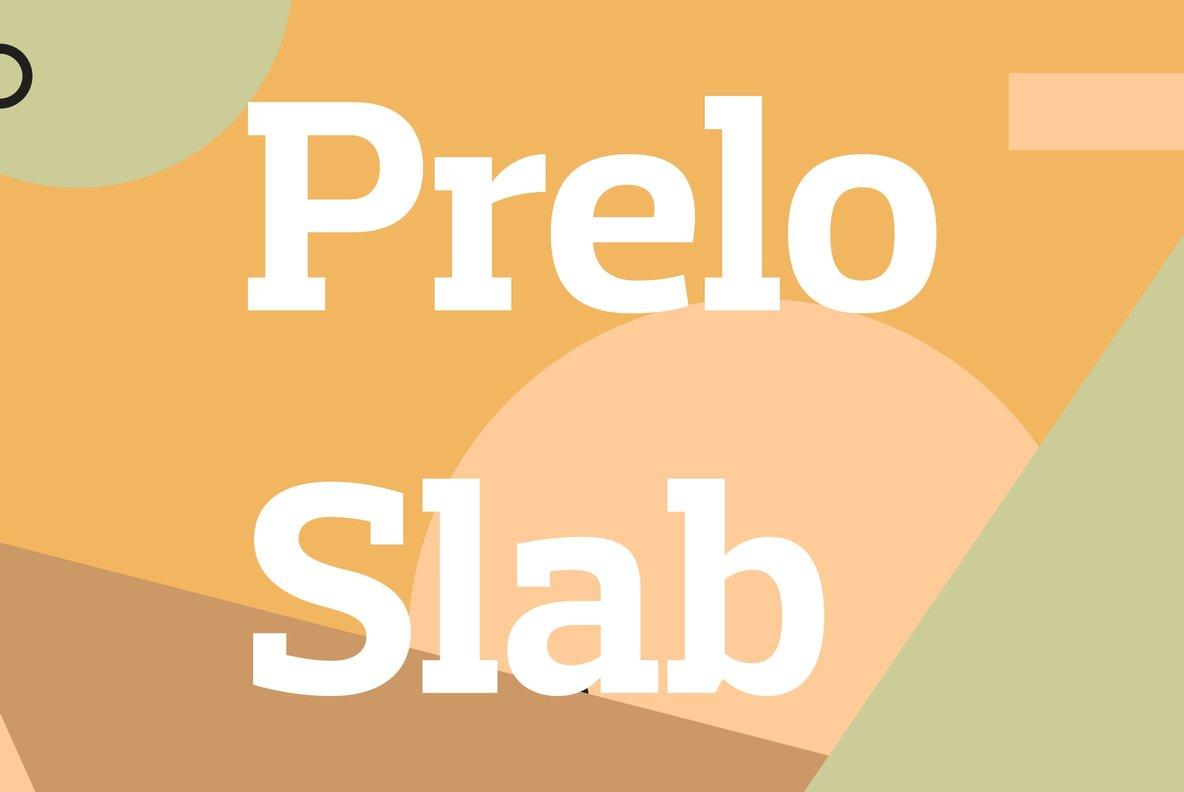 Prelo Slab Bold Free Font