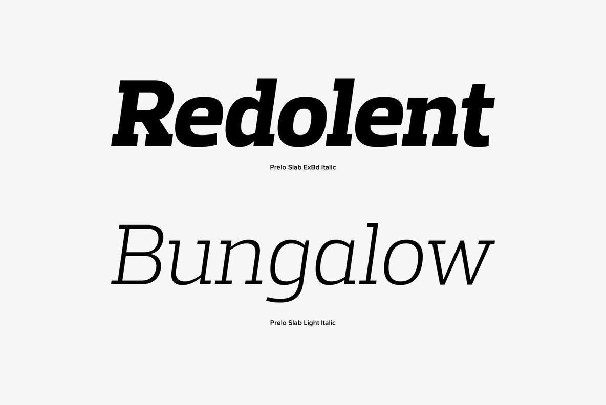 Free Prelo Slab Bold Fonts
