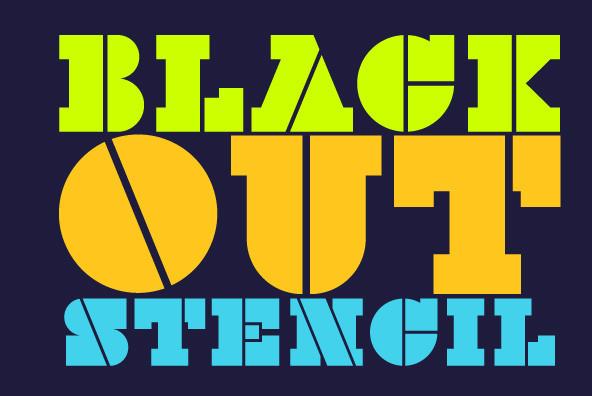 Black Out Stencil