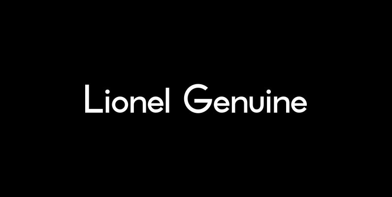 Lionel Text Genuine