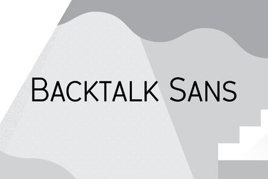 Backtalk Sans