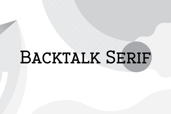 Backtalk Serif